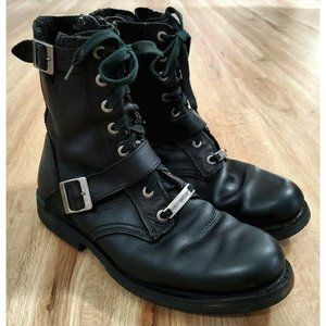 "Harley-Davidson Mens Ranger 8"" Leather Black Boots"